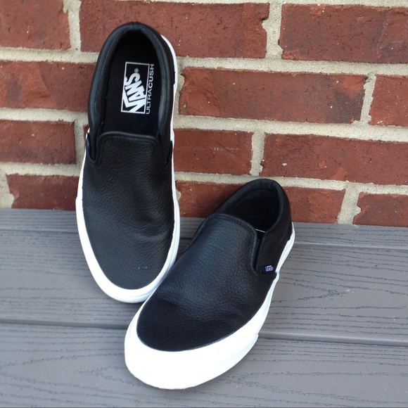 Classic Vans Leather Slip Ons | Poshmark